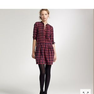 J. Crew Plaid Sundrine Flannel Shirt Dress Size S